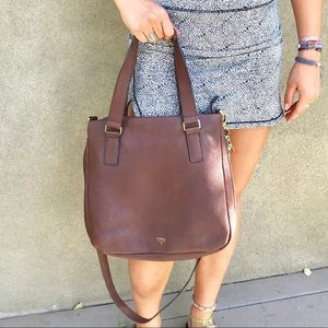 Handbags - Fossil expandable leather bag